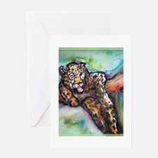 Leopard! Wildlife art! Greeting Card