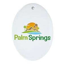 Palm Springs Oval Ornament