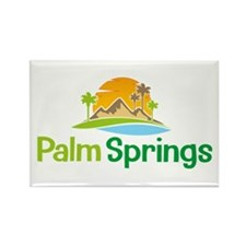 Palm Springs Rectangle Magnet