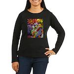 Flora Pastel Women's Long Sleeve Dark T-Shirt