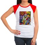 Flora Pastel Women's Cap Sleeve T-Shirt