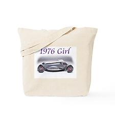 1976 Girl Cars Tote Bag