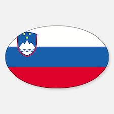 Slovenia Oval Decal