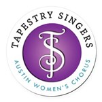 Tapestry Singers Round Car Magnet