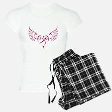Breast Cancer Awareness Angel Heart Pajamas