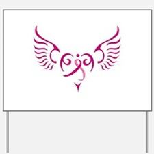 Breast Cancer Awareness Angel Heart Yard Sign