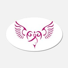 Breast Cancer Awareness Angel Heart Wall Decal