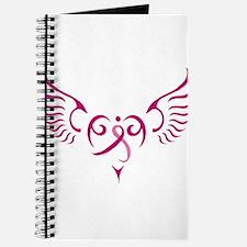 Breast Cancer Awareness Angel Heart Journal