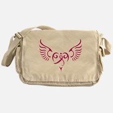 Breast Cancer Awareness Angel Heart Messenger Bag