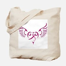 Breast Cancer Awareness Angel Heart Tote Bag