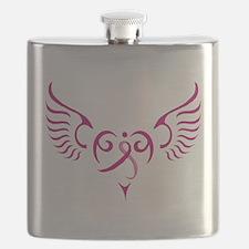 Breast Cancer Awareness Angel Heart Flask