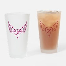 Breast Cancer Awareness Angel Heart Drinking Glass