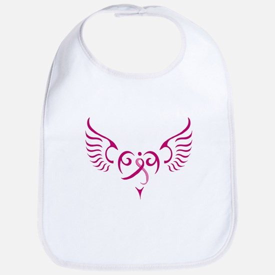 Breast Cancer Awareness Angel Heart Bib
