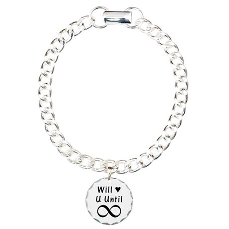 Will Love You Until Infinity Charm Bracelet, One C