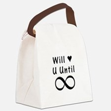 Will Love You Until Infinity Canvas Lunch Bag