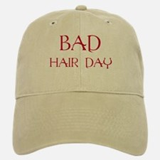Red Print Bad Hair Day Baseball Baseball Cap