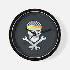 Skull and Tools Wall Clock