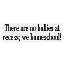 No bullies at recess Bumper Sticker.