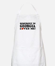Somebody In Georgia Loves Me BBQ Apron