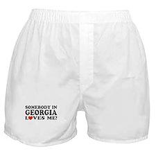 Somebody In Georgia Loves Me Boxer Shorts