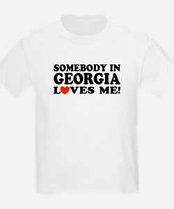 Somebody In Georgia Loves Me Kids T-Shirt