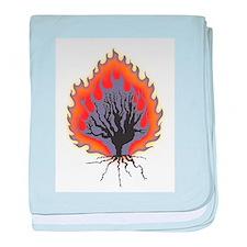 The Burning Bush baby blanket