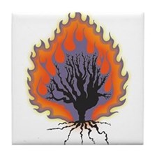 The Burning Bush Tile Coaster