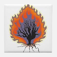 The Burning Bush Tile Coaster