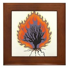 The Burning Bush Framed Tile