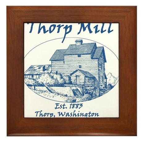 Mill Round Blue Logo Framed Tile