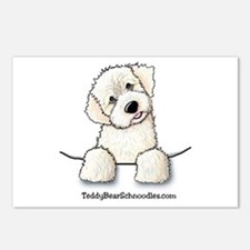White Schnoodle Pocket Postcards (Package of 8)