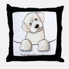 White Schnoodle Pocket Throw Pillow