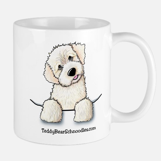White Schnoodle Pocket Mug
