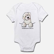 White Schnoodle Pocket Infant Creeper