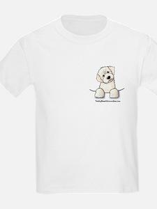 White Schnoodle Pocket Kids T-Shirt