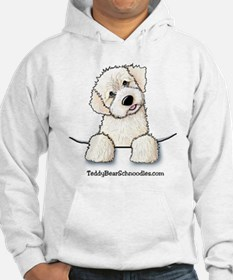 White Schnoodle Pocket Hoodie