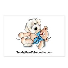 Pocket Wht Schnoodle w/Bear Postcards (Package of