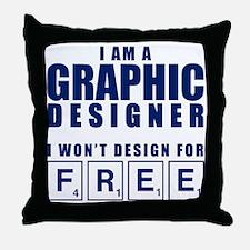 NO FREE DESIGNS Throw Pillow