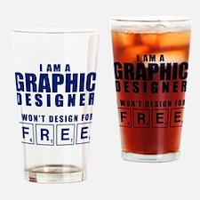NO FREE DESIGNS Drinking Glass