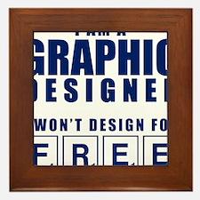 NO FREE DESIGNS Framed Tile