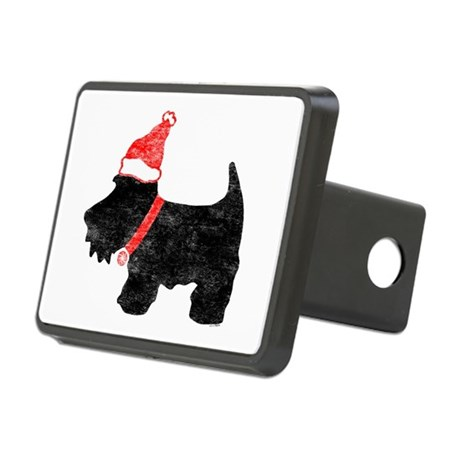 Xmas Scottie Dog Rectangular Hitch Cover