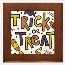 Trick Or Treat Framed Tile