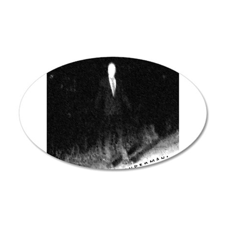 Slenderman 20x12 Oval Wall Decal