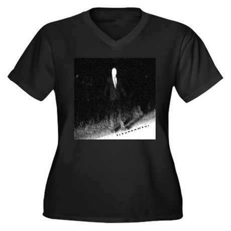 Slenderman Women's Plus Size V-Neck Dark T-Shirt