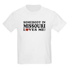Somebody In Missouri Loves Me Kids T-Shirt