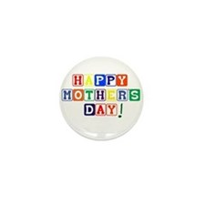 Happy Mothers Day.psd Mini Button (10 pack)