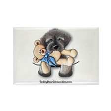 Pocket Wookie Schnoodle w/Bear Rectangle Magnet (1