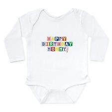 Happy Birthday Mommy.psd Long Sleeve Infant Bodysu