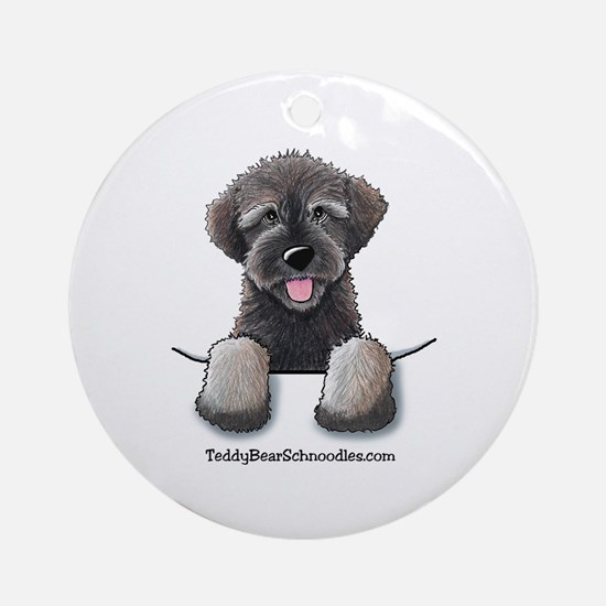 Pocket Wookie Schnoodle Ornament (Round)