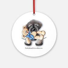 Pocket Wookie Schnoodle w/Bear Ornament (Round)